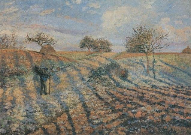 Pissarro_Gelée_blanche,_ancienne_route_d´Ennery,_Pontoise_-_1873